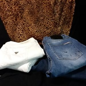 White Guess Skinny Jeans